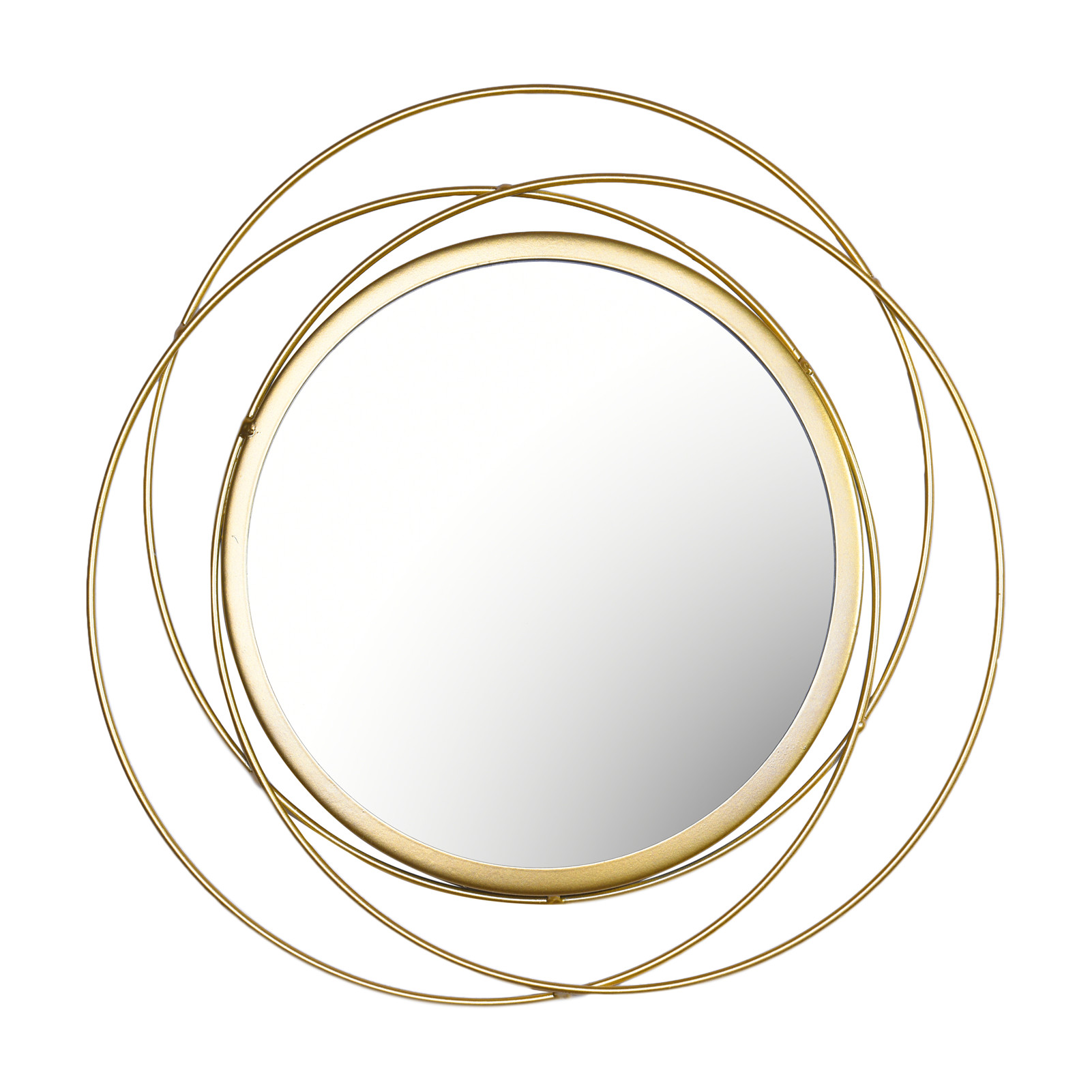 Home Decor Wall Mirror Hanging Geometric Classic Gold Metal Makeup For Party Wedding Gift Bedroom Bath Room Decorative 2021 New