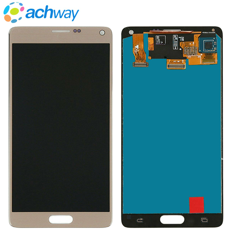 "Super AMOLED 5.7""for Samsung Note 4 N910 N910A N910F Note4 LCD Display Touch Screen Digitizer Assembly For SAMSUNG NOTE 4 LCD"