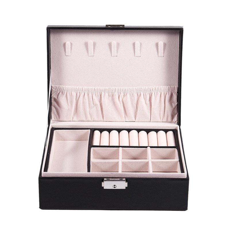 Double Storage Box Can Put Ring Necklace Earrings Jewelry PU Storage Box Glasses Watch Display Box