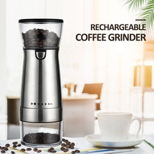 Mill-Machine Coffee-Grinder Adjustable Kitchen-Tools USB Stainless-Steel Electric Professional
