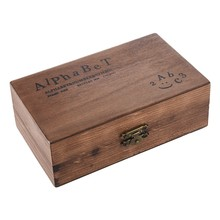 Pack of 70pcs Rubber Stamps Set Vintage Wooden Box Case Alphabet Letters Number Craft (No Ink Pad Included)(China)