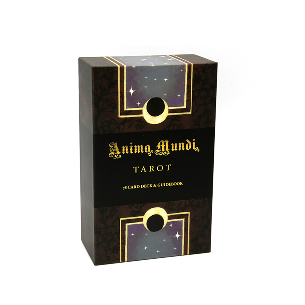 Anima Mundi Tarot-cartas del Tarot de astrología del mundo, 78 cartas, cubierta de Tarots, ribete de lámina dorada