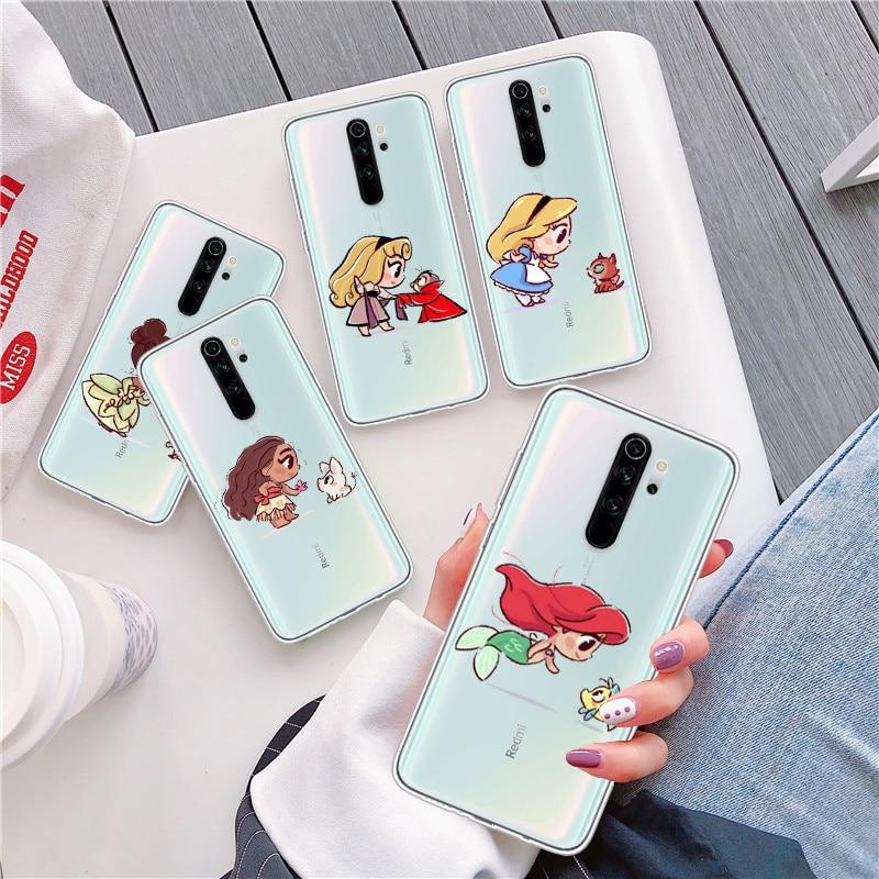 Soft TPU Silicone Case For Xiaomi Redmi Note 8 Mini Mermaid Belle Snowwhite Princesses For Note 6 8 Pro Note7 5 Mi 9 9T K20 Pro