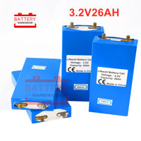 4PCS Lifepo4 prismatic cell 3.2V 25AH 26Ah/83.2Wh Hot sell lithium iron phosphate battery for solar power electric vehicle