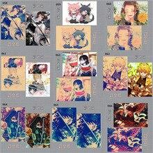 Аниме Стена Плакат Японский Аниме Демон Убийца Призрак Клинок Плакат Стена Наклейки Дом Комната Декоративный Плакат Баннер Стена Наклейки