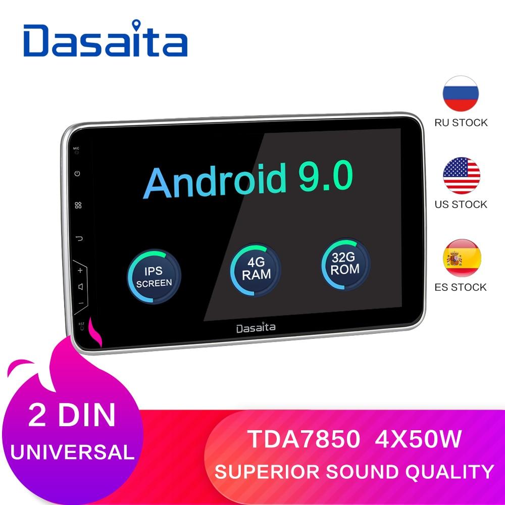 "Dasaita 2 Din Radio 10,2 ""IPS pantalla Android 9,0 HDMI Universal estéreo de coche sistema Multimedia para Toyota DSPCar Multimedia Player   -"