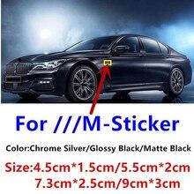 Наклейки-эмблемы M Sport M Power, значок с крыльями и боковыми крыльями, логотип багажника для BMW X3 X5 X6 M3 M4 M5 325 E36 E46 E90 E92 F10 F30, 2 шт.