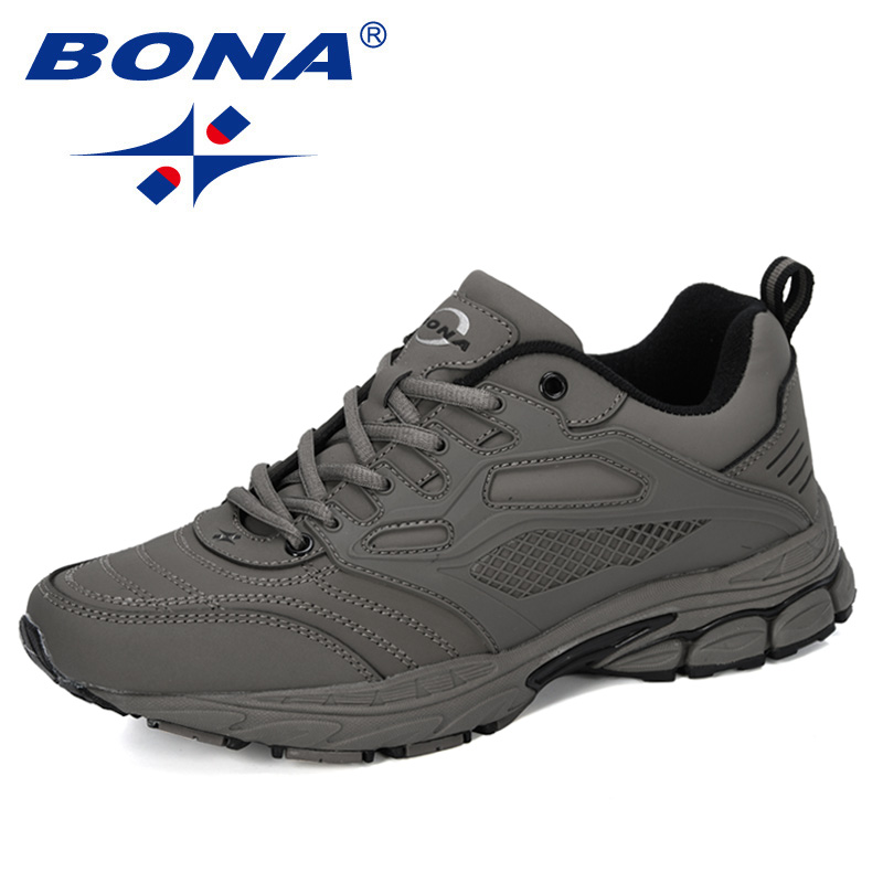 BONA 2019 New Designer Popular Athletic Shoes Outdoor Sports Walking  Shoes Male Leather Jogging Sneakers Sapatos Running Shoes