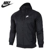 Nova chegada original nike como m nsw wr jkt jaqueta masculina com capuz|Jaquetas de corrida|Esporte e Lazer -