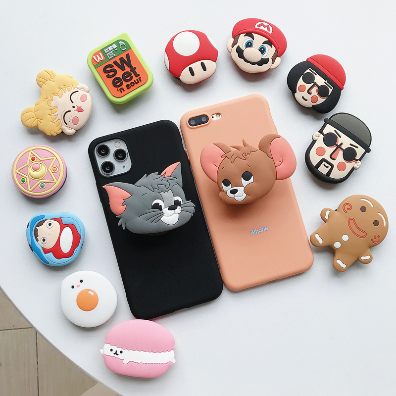 High Quality Universal Cute Cartoon Character Airbag Mobile Phone Extension Mobile Phone Stand Desktop Stand Suitable For Iphone