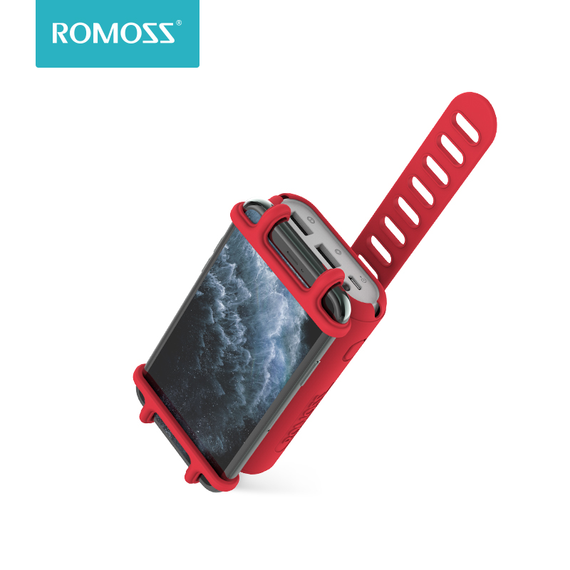 Romoss UR01 10000mAh Power Bank 2 In 1 Portable Charger With Bike Phone Mount Holder External Battery Pack For Smartphone Xiaomi