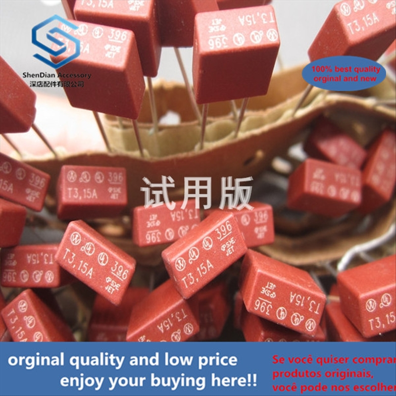 50pcs 100% Orginal New Best Quality Square Fuse 3.15A 250V Slow Break 250VAC 392 Straight Plug 2 Pins