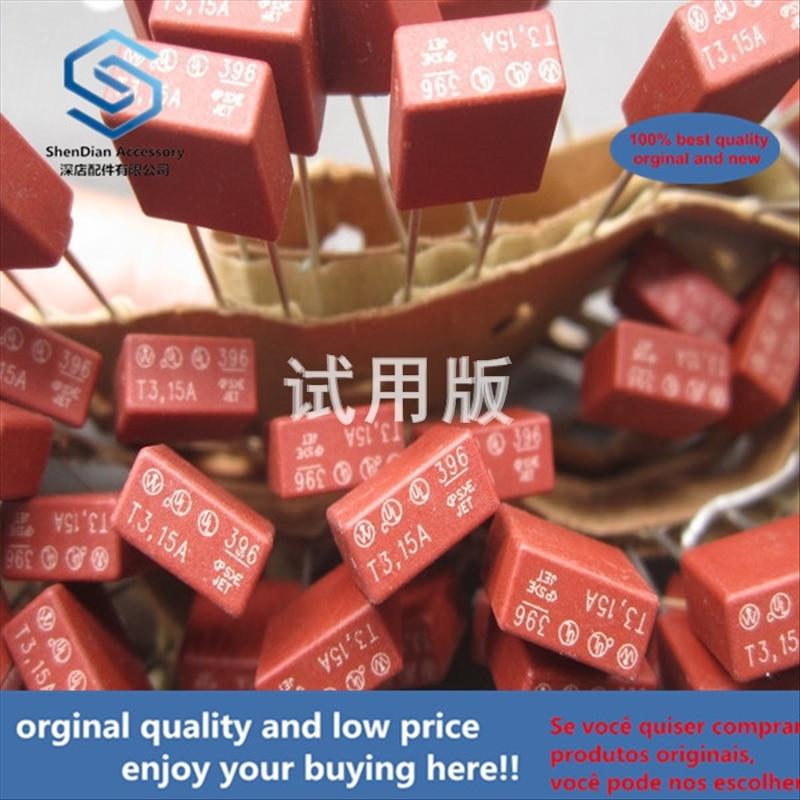 50pcs 100% Orginal New Best Quality Square Fuse 3.15A 250V Slow Break 250VAC 392 Straight Plug 2 Pins