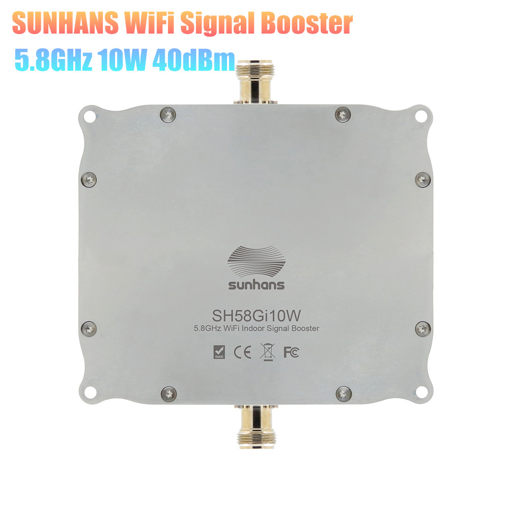 100% Original SUNHANS SH58Gi10W 5.8GHz 10W 40dBm WiFi Indoor Signal Booster High Power Wireless Amplifier