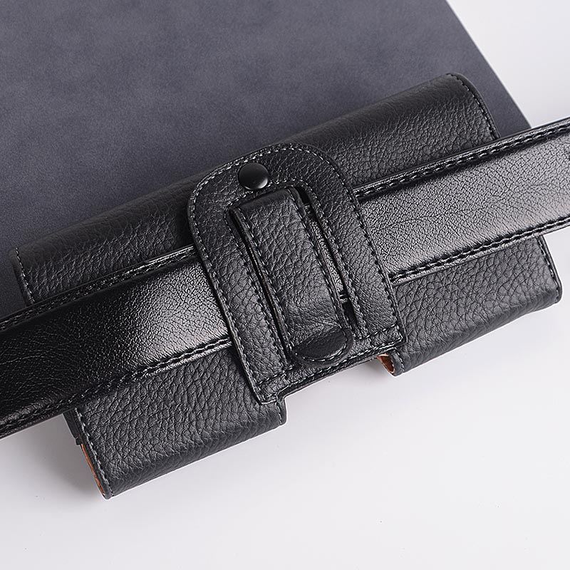 Universal Casual Leather Phone Pouch with Holster Bag Belt Good Protection For Phones 4