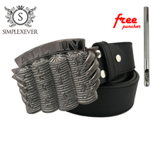Gambling ALL IN Silver Belt Buckle Brand Western for Mens Jeans Suitable 4cm Width Drop Shipping