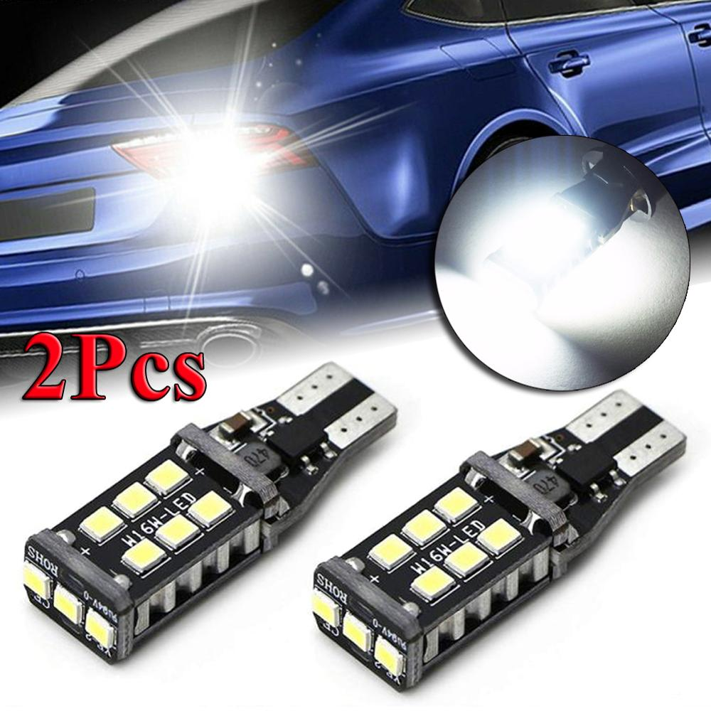 2pcs 912 921 T15 W16W LED Headlight Bulb Beam Kit Canbus 12V 80W  Car Backup Reverse Light  6500K Auto Headlight Bulbs 1200LM