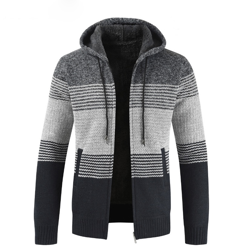 Thick Warm Hooded Cardigan Sweater 15