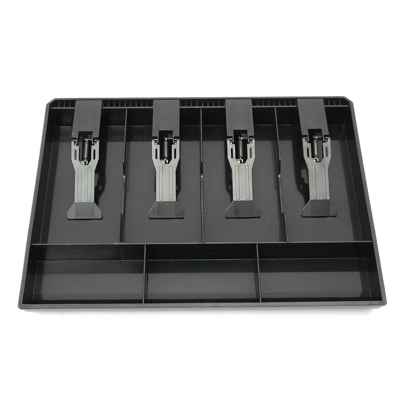 Contanti Cassetto Porta Soldi Registratore Cassa Rendiresto 5 Bill 4 Coin Trays