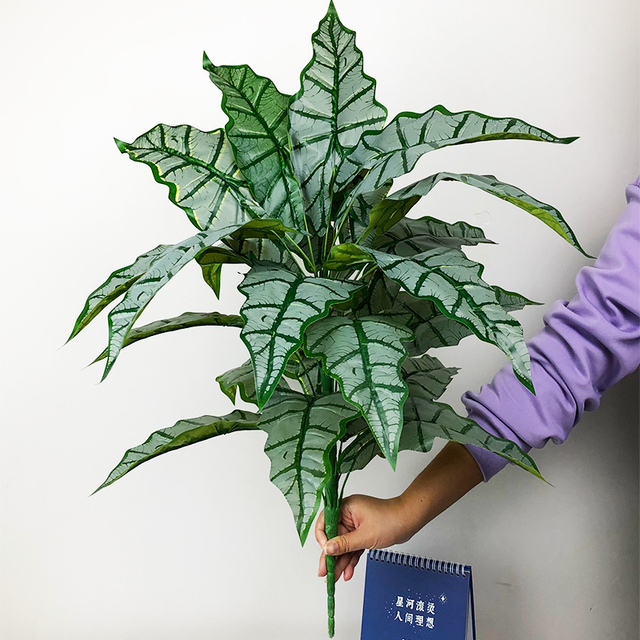 Фото 76 см/55 см большие искусственные тропические растения monstera
