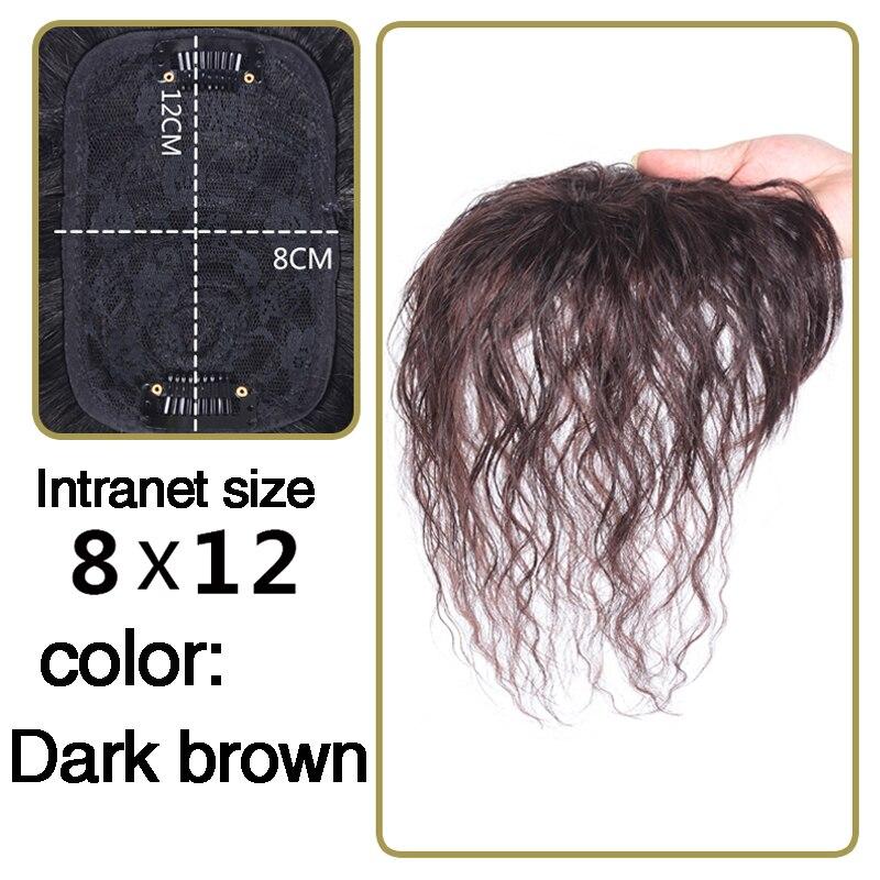 DIFEI Женская кукурузная борода натуральный цвет кудрявые волосы короткая челка верхние закрытия заколки для волос Синтетические заколки для волос - Цвет: 8X12 2I33