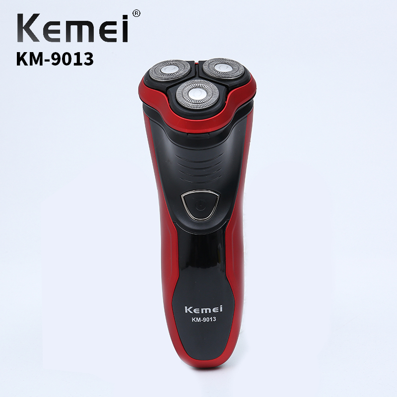 Kemei KM-9013 Crossover Rechargeable Three-Head Floating Razor High Quality Men's Daily Necessities Electric Shaver