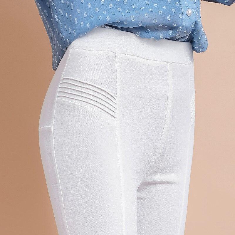 Neimai Pencil   Pants     Capris   Women Autumn White Cotton Casual Modis Trousers High Waist Korean Pantalones Mujer Cintura Alta Calca