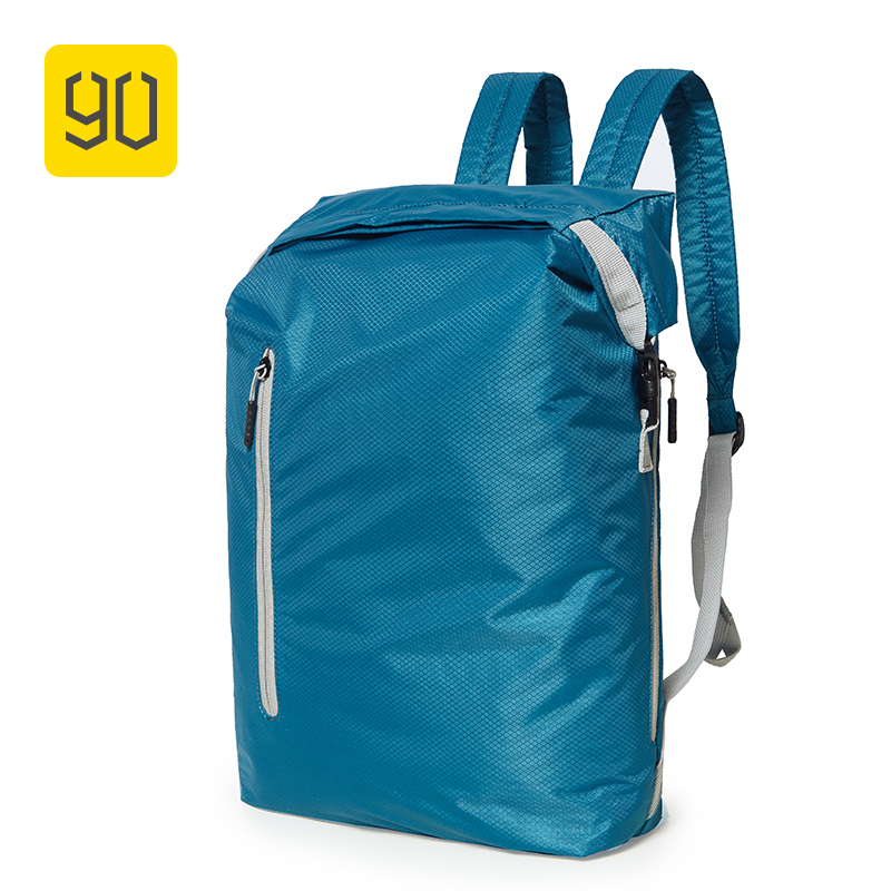 90FUN Lightweight Backpack Foldable Bags Sports Travel Water Resistant Casual Daypack For Women Men 20L Blue/Black