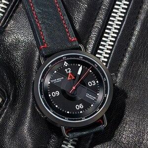 Image 2 - Reef Tiger reloj Blac Simple para hombre, pulsera de cuero, resistente al agua, militar, automático, RGA9055, 2020
