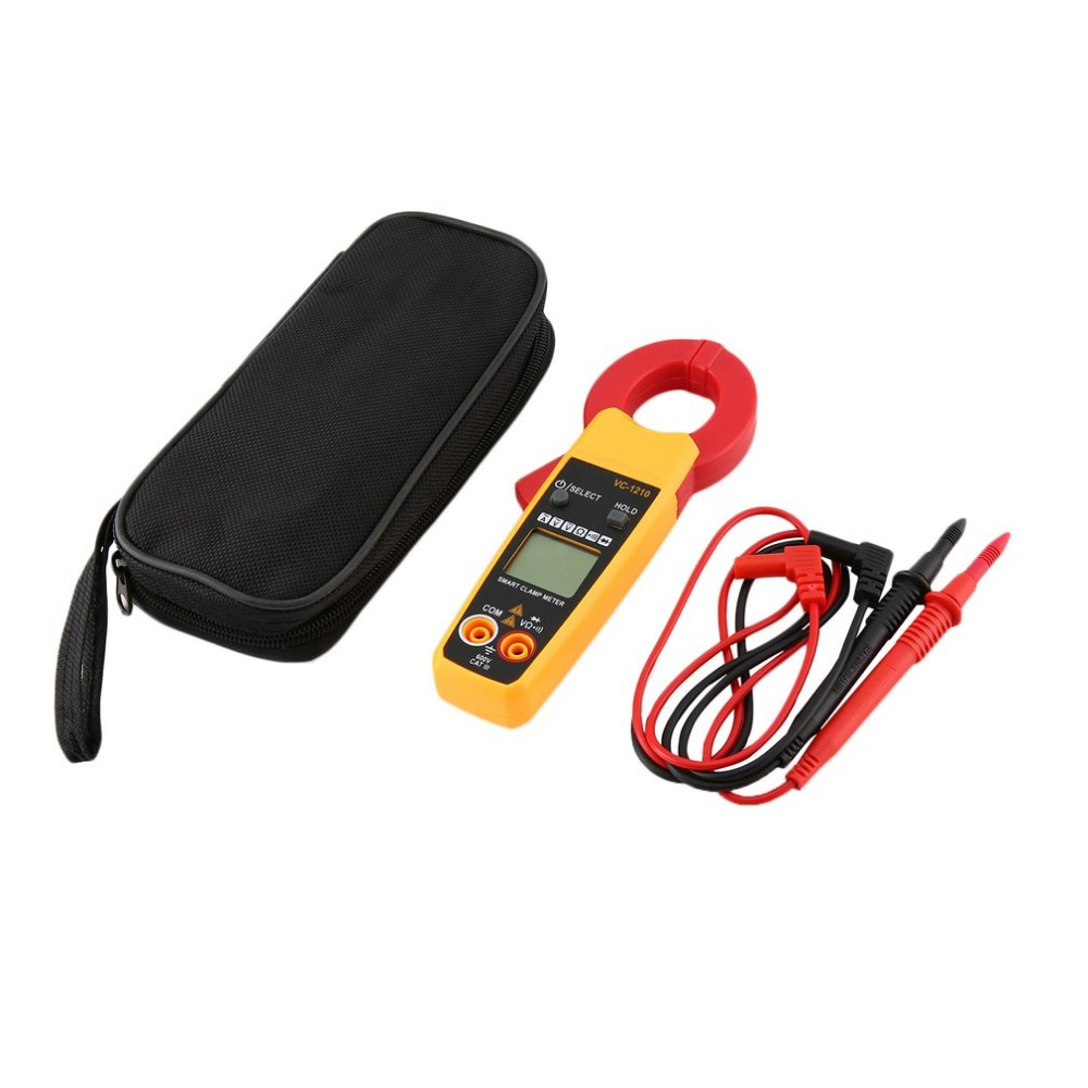 VC-1210 Handheld Digital Clamp Meter Multimeter AC/<font><b>DC</b></font> Volt Ohm Diode Current Voltage Tester Resistance Ammeter Multitester image
