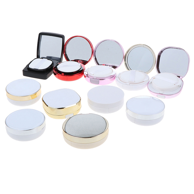 Empty DIY Air Cushion Puff Box Beauty Make Up Case Foundation BB Cream Sponge Dispensing Hold Powder Puff Empty Box New