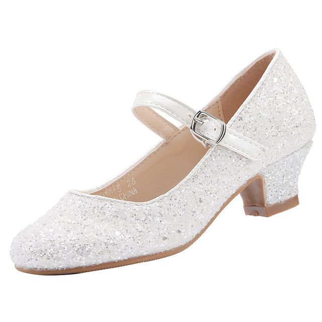 EIGHT KM EKM7015 M/ädchen Mary Jane Low Heel Glitter Abendkleid Pumps Schuhe