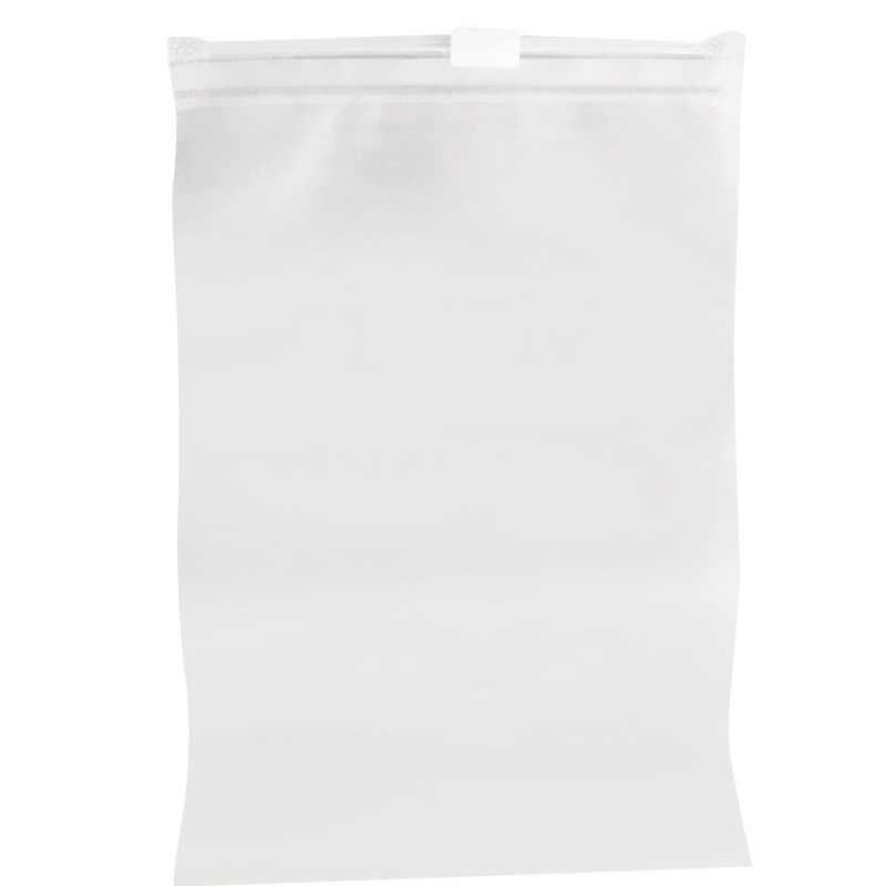 Pano selado transparente sacos de armazenamento organizador de viagem cosméticos maquiagem bolsa sapato organizadores roupas roupa interior saco de armazenamento zip