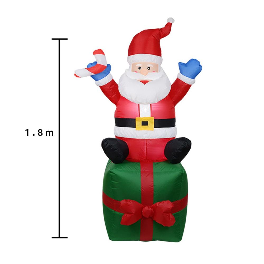 1.8M Leuke Opblaasbare Kerstman Kerst Outdoors Ornamenten Xmas Nieuwe Jaar Party Home Garden Yard Xmas Decoratie C1668 j