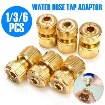 1/3/6pc brass 1/2 quick connector 16mm hose faucet coupling garden irrigation tap adapter car wash joint