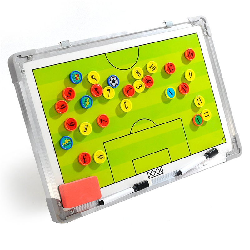 Soccer Football Tactical Coaching Strategy Board Aluminum Alloy Magnetic Professional Soccer Clipboard Dry Erase Tactical Board