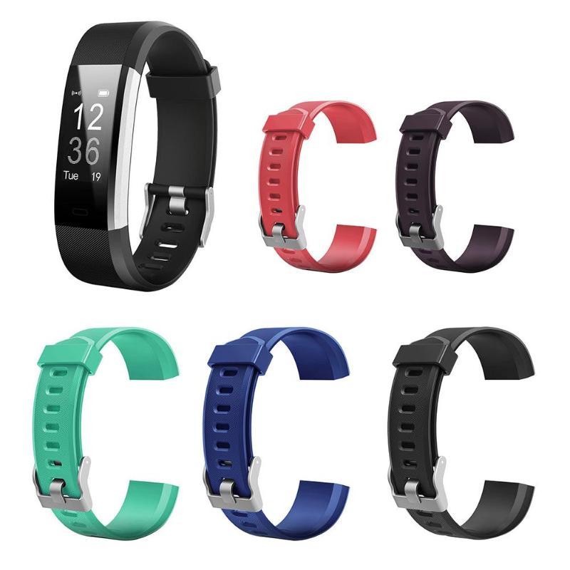 Silicone Sport Wrist Strap Bracelet Watch Band For ID115Plus HR Smartwatch