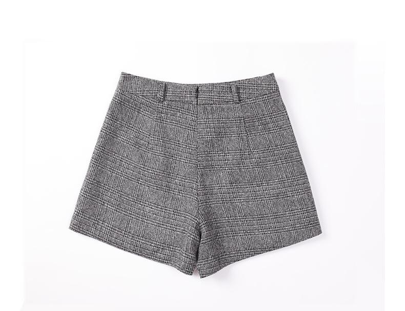H4bd5e37f43364ebdb2b2a066976bae2eB - Irregular Woolen Plaid Shorts Skirts For Women Atumn Winter Office Short Women Plus Size Booty Shorts Feminino