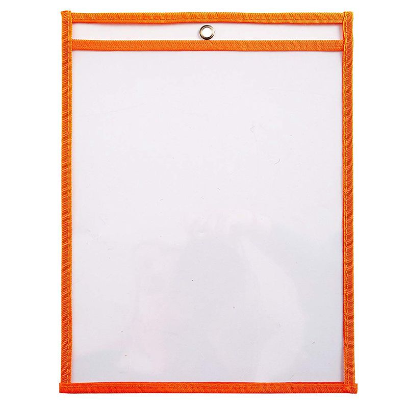30 Multicolored Dry Erase Pockets,Oversize 10 X 13 Pockets,Perfect For Classroom Organization,Reusable Dry Erase Pockets,Teachin