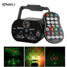 Djworld Mini Effect 60 узоров RGB USB заряженный лазер свет беспроводной пульт проекция для DJ дискотека вечеринка танец пол