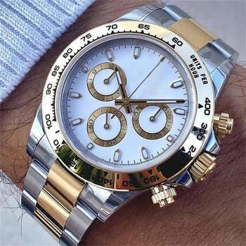 Zegarek męski zegarek marki automatyczne maszyny zegarek męski zegarek modny zegarek męski pasek stalowy zegarek Casual zegarek zegarek z kalendarzem tanie i dobre opinie 3Bar CN (pochodzenie) Zapięcie bransolety Moda casual Samoczynny naciąg 25inch STAINLESS STEEL Automatyczna data 2813