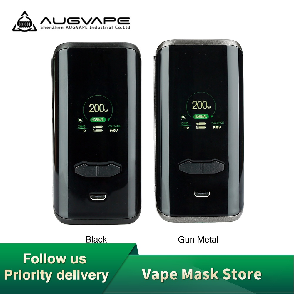 New Original <font><b>Augvape</b></font> <font><b>VX200</b></font> Vape Box Mod Max <font><b>200W</b></font> No 18650 Battery Mod Box Firmware Upgradeable Vs Shogun / Revenger X / Luxe Mod image
