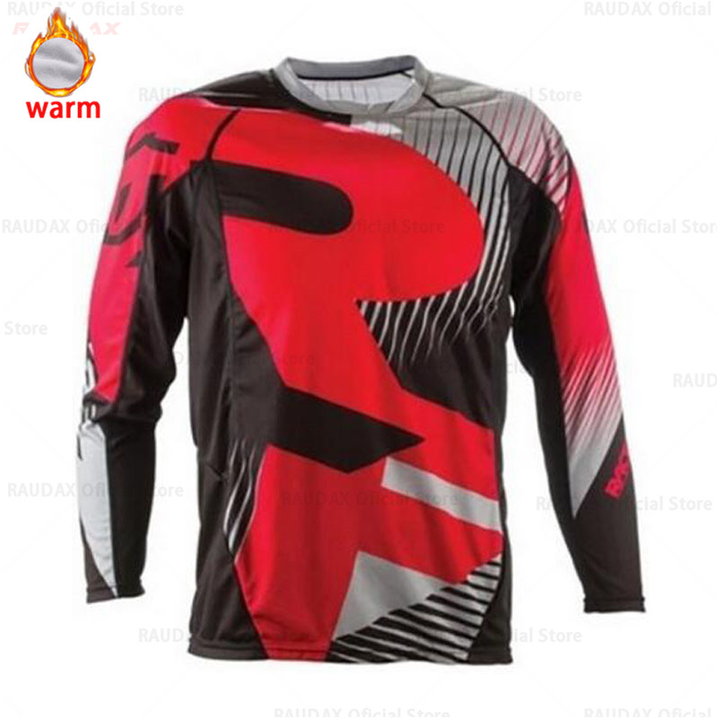 Fleece Keep Warm Long Motocross Racing Jersey Downhill Bike Bicycle Pro Moto Off Road T Shirt Clothes Clothing DH MX GP RBX MTB