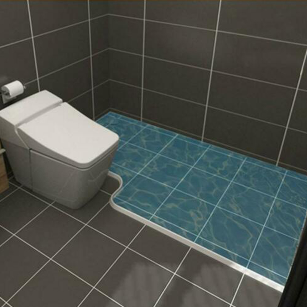 Collapsible Rubber Blocker Shower Barrier Bathroom Supplies