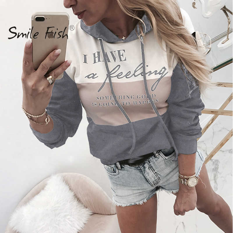 Female Hoodies Winter Lacing Office Lady Pullovers Letter Printed Hoodie Black Gray 2019 Women Autumn Casual Sweatshirts GV885