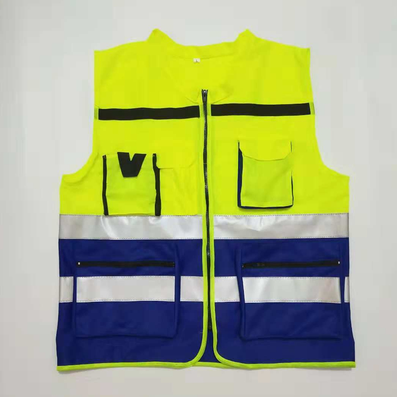 Reflective Patchwork Vest Multiple Pockets Traffic Safety Night Construction Site Safety Working Protective High Quality Vest