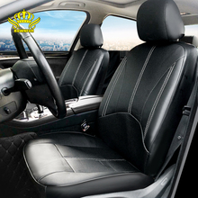 Car-Seat-Cover Auto-Accessories Interior Universal Waterproof 1set ROWNFUR Solid PU Black