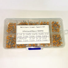 10 Values 500pcs Monolithic Capacitor kit 104 105 106 154 223 334 474 684 225 475/10 4.7 2.2 0.68 0.47 UF