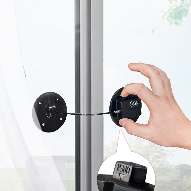 Safety Lock Child Plastic Window Restrictor Infant Security Coded Lock Kids Prevent Children Falling Window Locks
