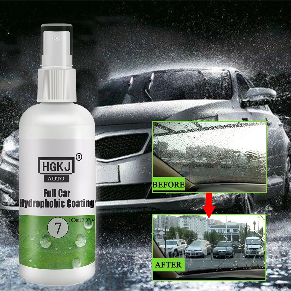Lovely Hgkj No.7 Car Paint Cleaning Cleaner Hydrophobic Water Rain Repellent Spray Auto Windshield Repellent Agent Nano Coating 100ml Colours Are Striking
